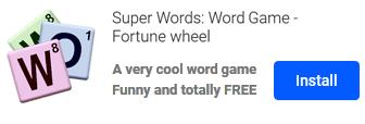 Super Words game